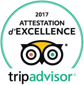 ATTESTATION EXCELLENCE 2017 CHATEAU DE LA VERIE TRIPADVISOR