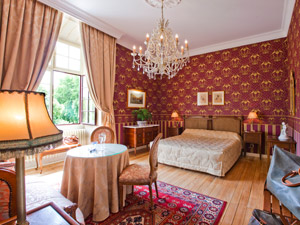 Chambres luxe hotel chateau challans 3 étoiles restaurant