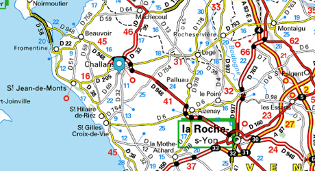 Situation & Accès France Map Vendée Challans
